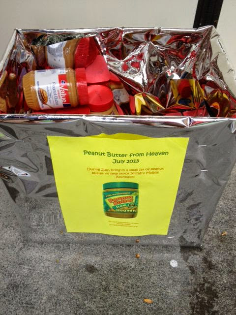5 interfaith partners in Blacksburg collected 251 jars during Peanut Butter from Heaven! Thank you!